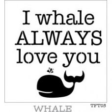 Fusion Whale Stencil
